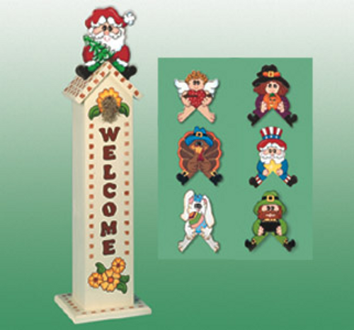 Holiday Birdhouse Greeters Wood Pattern