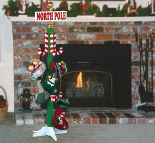 North Pole Stocking Hanger Wood Pattern