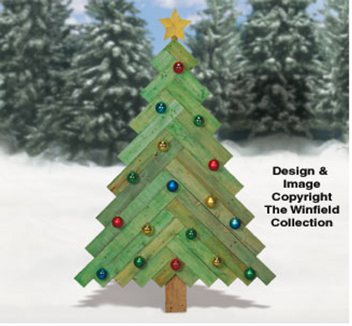 Pallet Wood Pine Tree Pattern