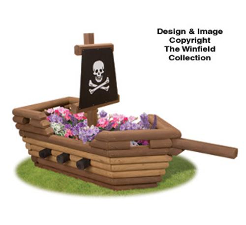 Pirate Ship Flower Planter Pattern