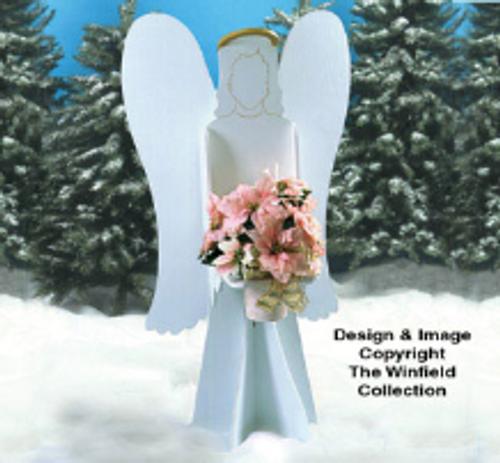 Poinsettia Angel Wood Pattern
