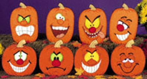 Pumpkin Faces 2 Wood Pattern