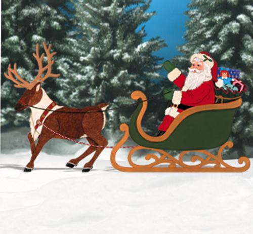 Realistic Santa Wood Pattern