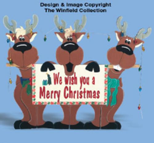Reindeer Trio Wood Pattern