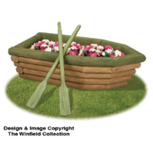 Row Boat Flower Planter Pattern