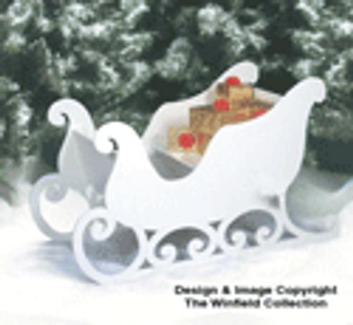 Santa Sleigh (medium size) Wood Pattern