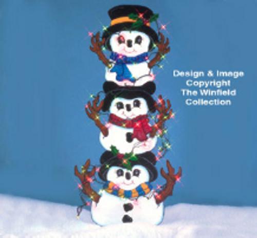Tangled Snowman Wood Pattern