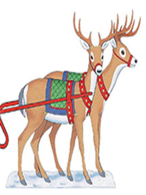 2 Reindeer for Santa Sleigh Outdoor Poster