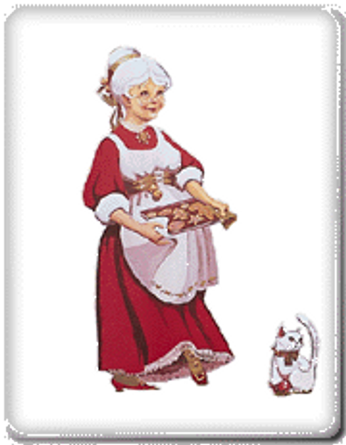 Mrs. Claus Outdoors Color Poster