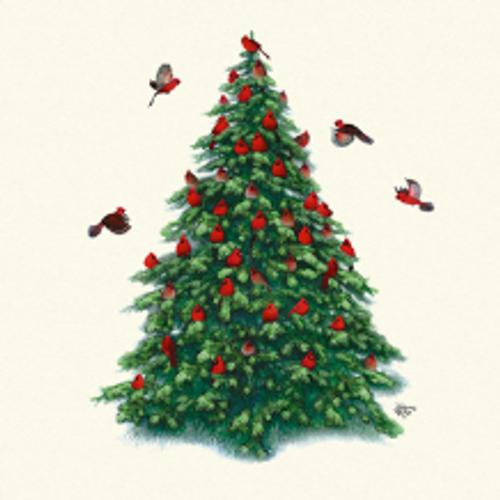 Christmas Tree Cardinals Sweatshirt