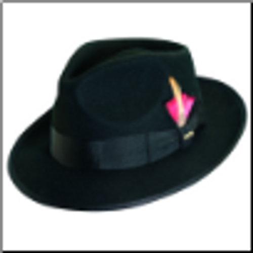 Scala New Yorkers Style Fedora Color Black