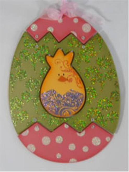 Easter Egg Character Sign Chick