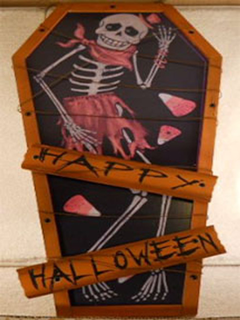 Happy Halloween Coffin Sign