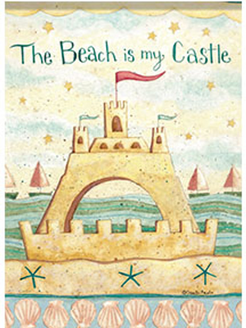 The Beach is my Castle Decorative Flag