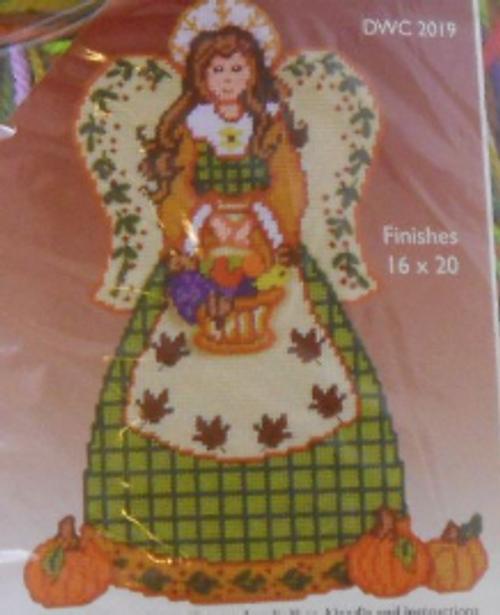 Autumn Angel Plastic Canvas Kit
