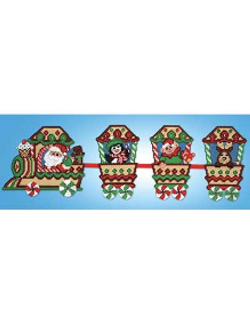 Santa Express Christmas Train Plastic Canvas Kit