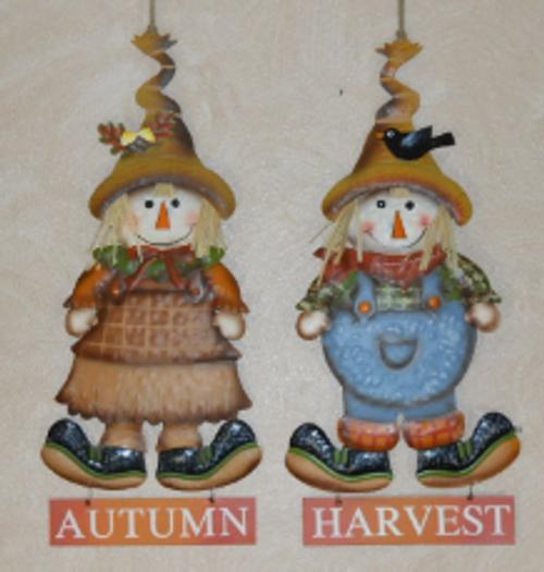 Autumn Girl/Boy Harvest Scarecrow Greeter