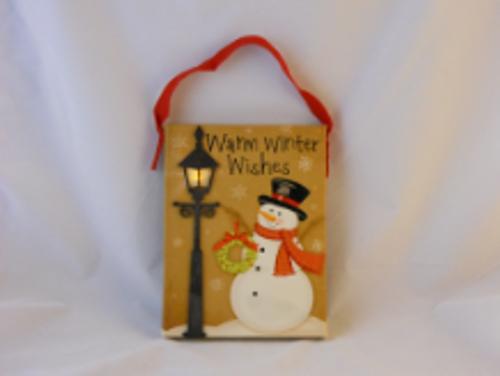 Christmas Snowman Light Up Hanger Light
