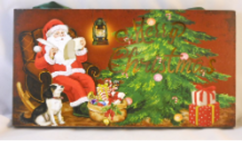 Holiday Light Up Hanger Santa Checking List