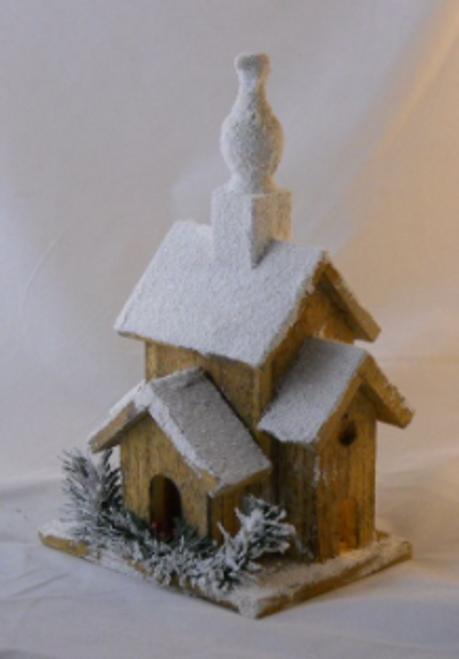 Holiday Lighted Birdhouse