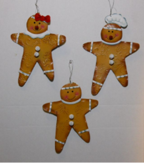 Small Gingerbread Man Hangers 3 Pack
