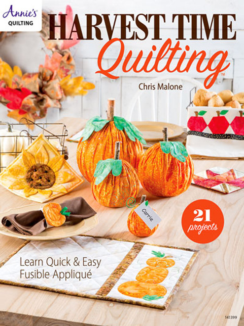 Quilting with 21 Projects range from pincushions to wall hangings with both autumn and Halloween in mind.