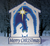Glowing White Nativity Wood Pattern