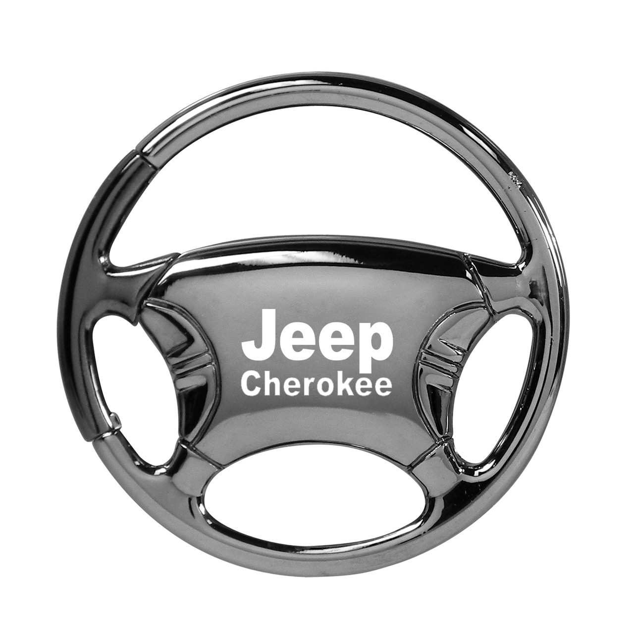 Jeep Grand Cherokee Black Tear Drop Metal Key Ring