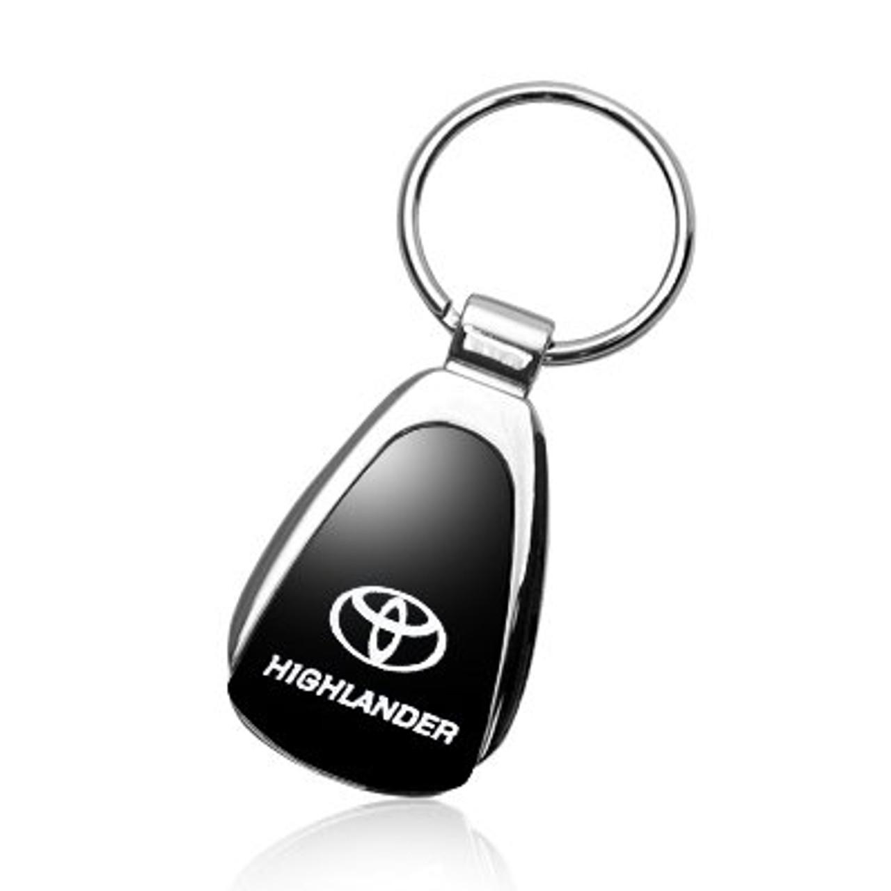 Au-Tomotive Gold Dodge Durango Black Tear Drop Metal Key Ring INC