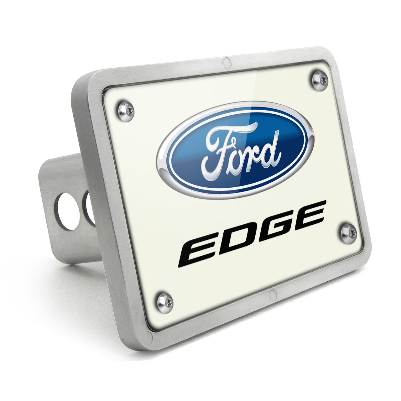 Ford Explorer Carbon Fiber Look UV Graphic Metal Plate on ABS Plastic 2 inch Tow Hitch Cover Made in USA