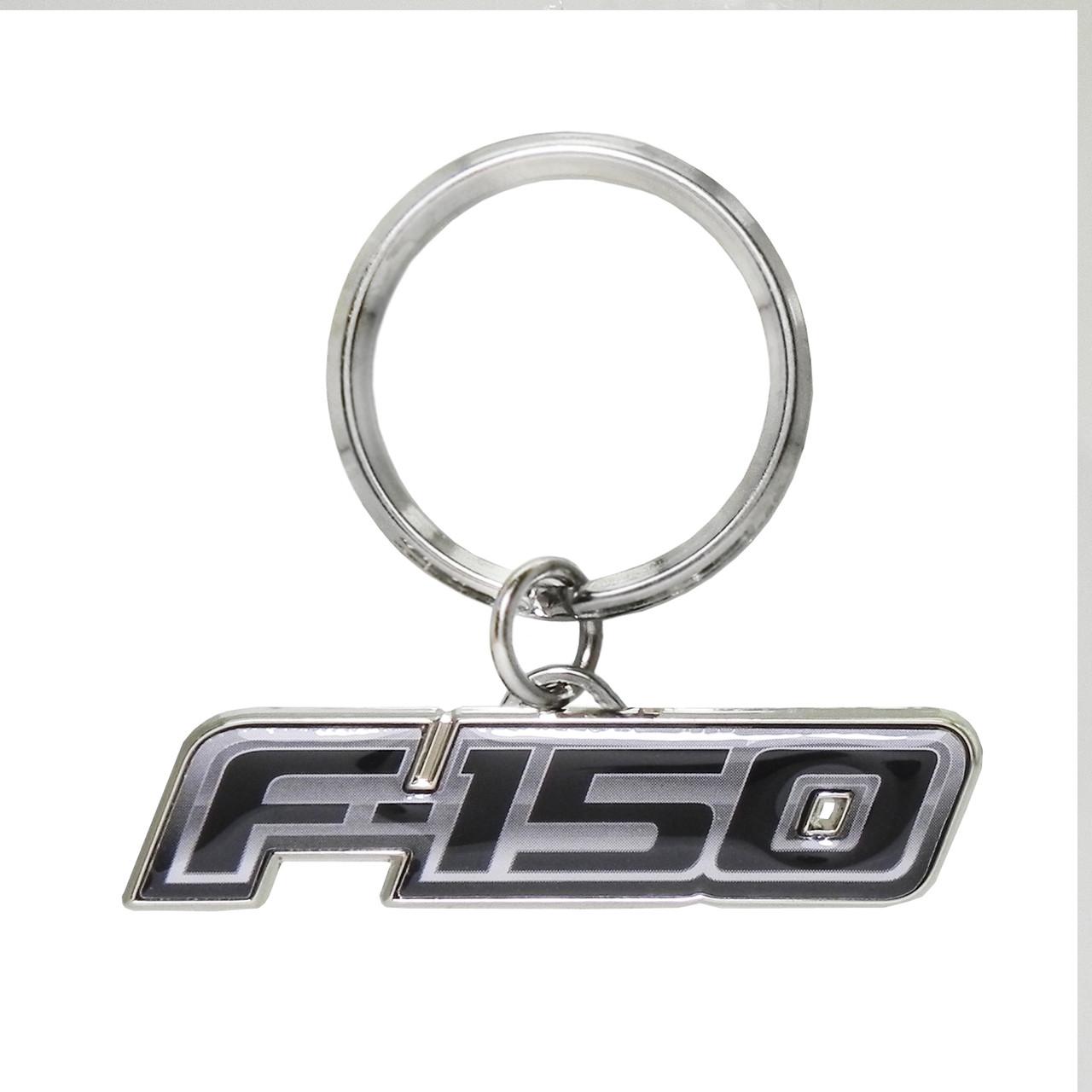 Ford F-150 Raptor Red Spun Brushed Metal Key Chain