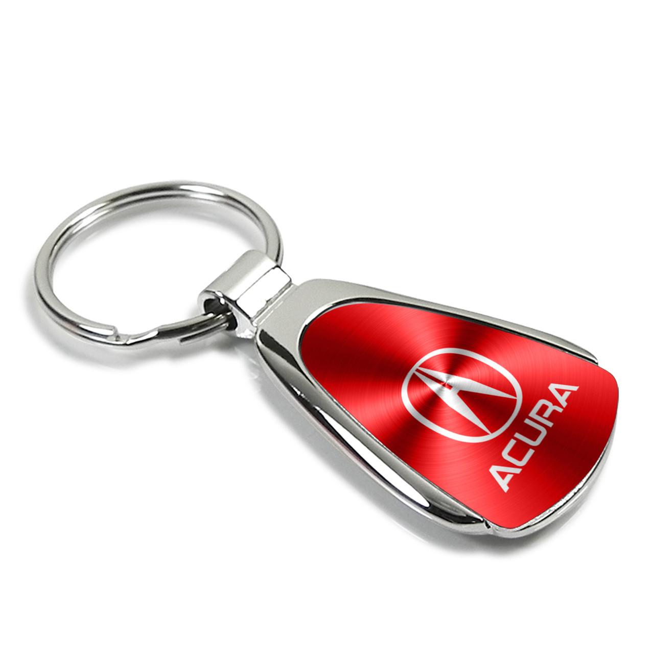 Acura RDX Red Spun Brushed Metal Key Ring