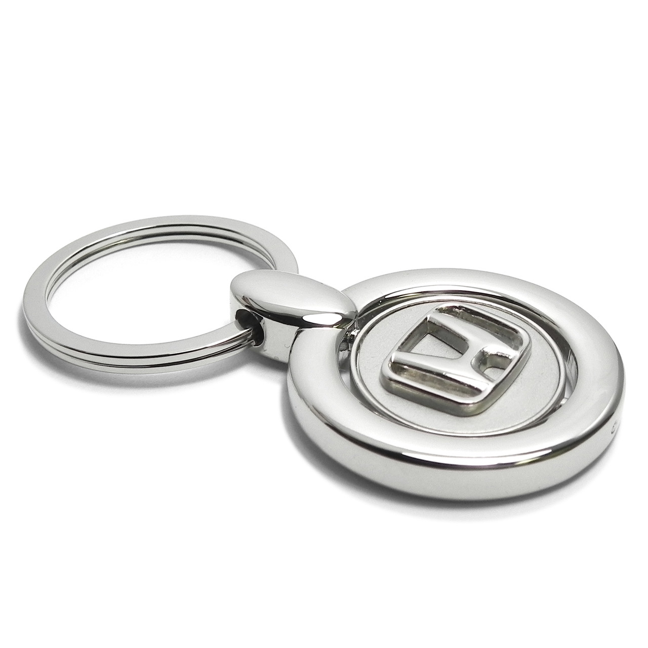Key Ring Honda Logo Silver Spinner Key Chain Key Fob