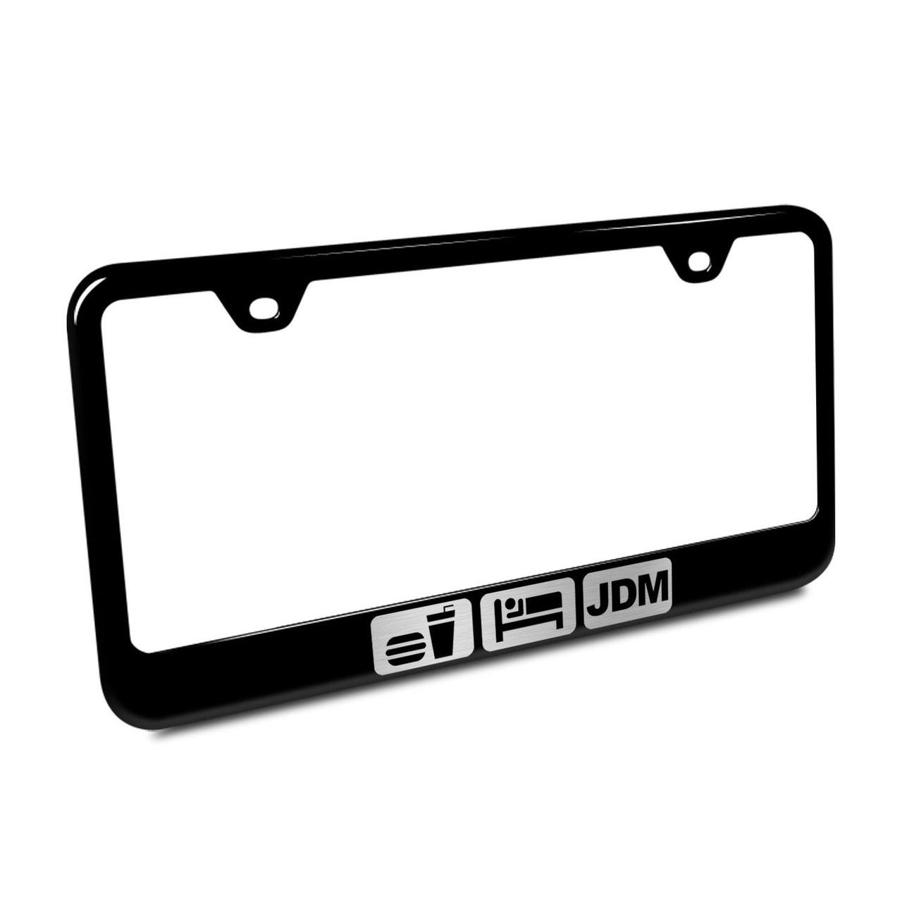 Lexus Logo Laser Style F Sport Black Stainless Steel Metal License Plate Frame