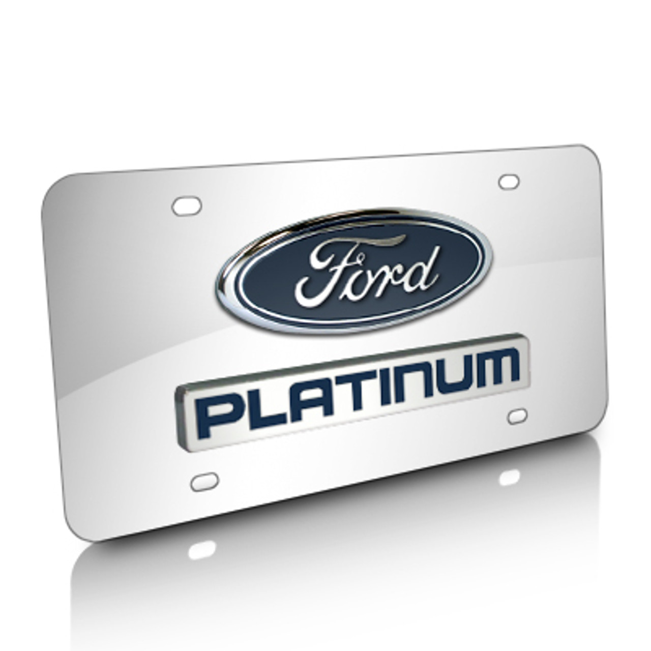 Ford Raptor Mirror Polished 3D Finish Logo Stainless Steel License Plate