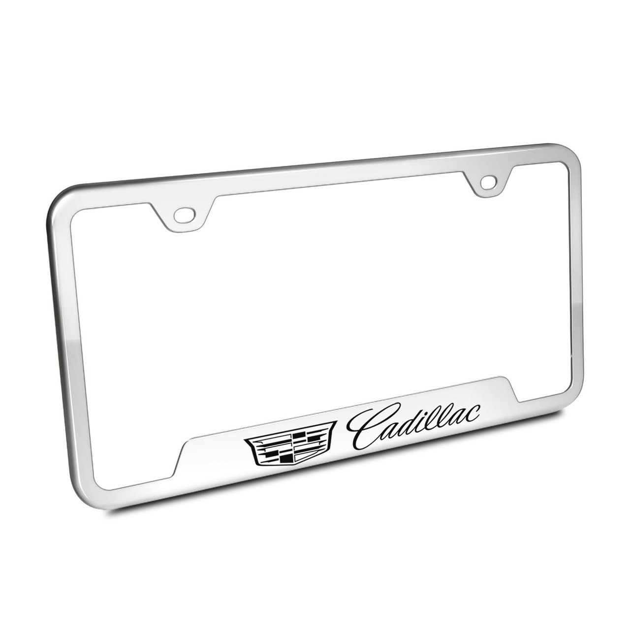 Cadillac Crest Logo Chrome Stainless Steel 50 States License Plate ...
