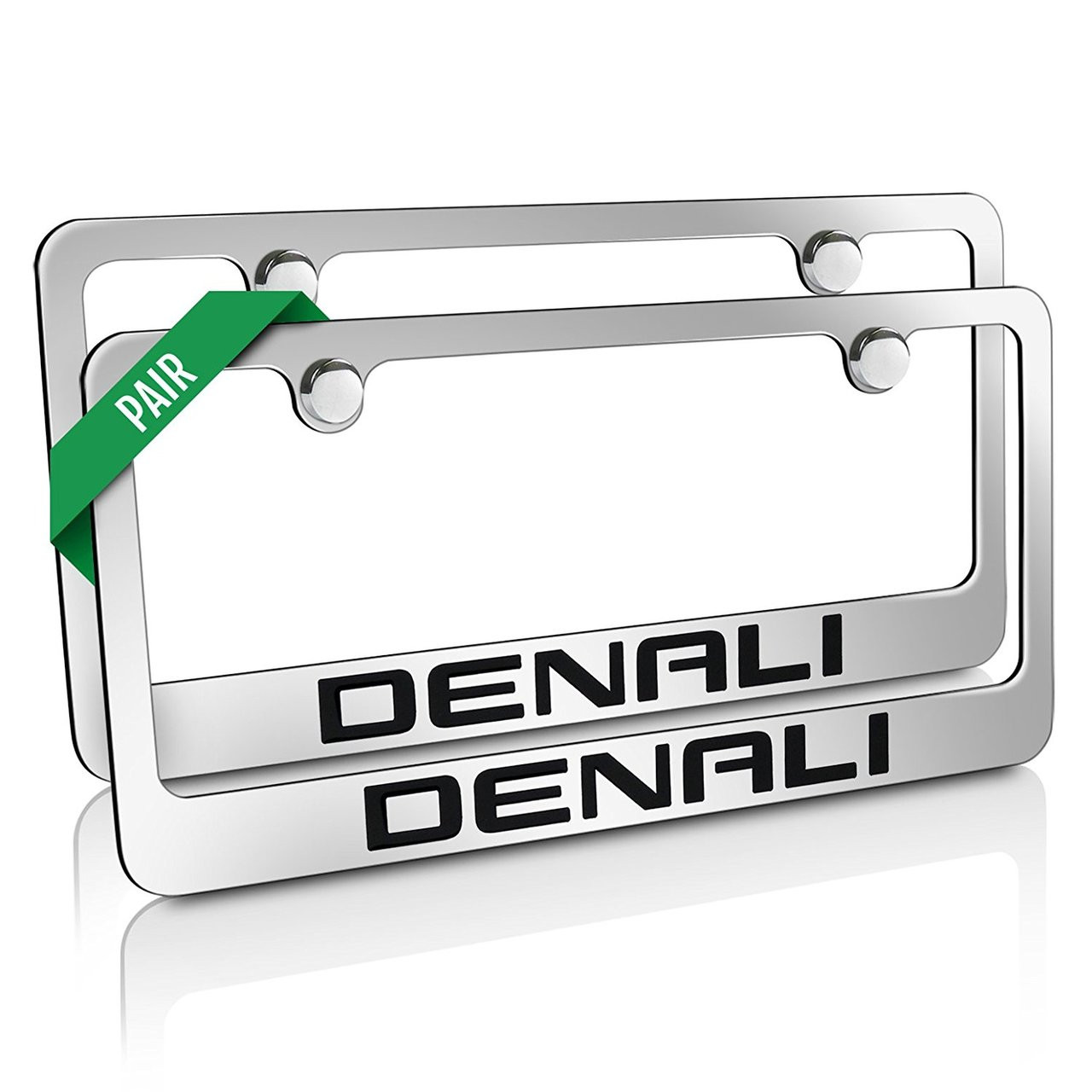 GMC Denali Chrome Metal License Plate Frames pair - Car Beyond Store