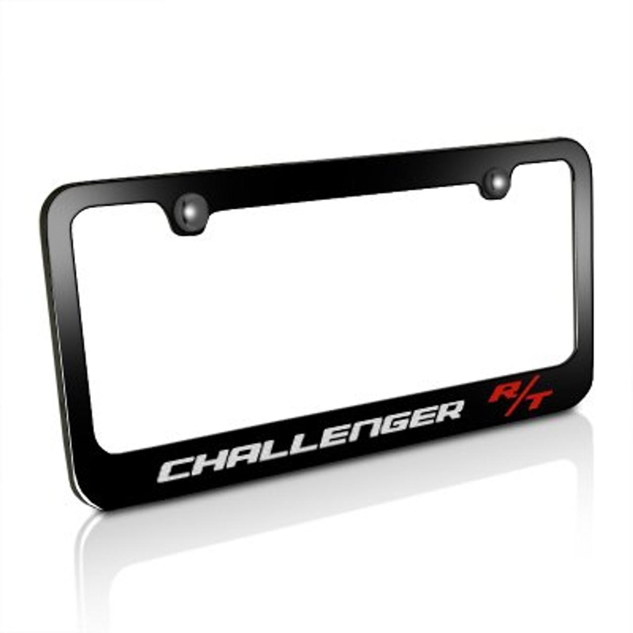 Dodge Challenger R//T Black Metal License Plate Frame iPick Image