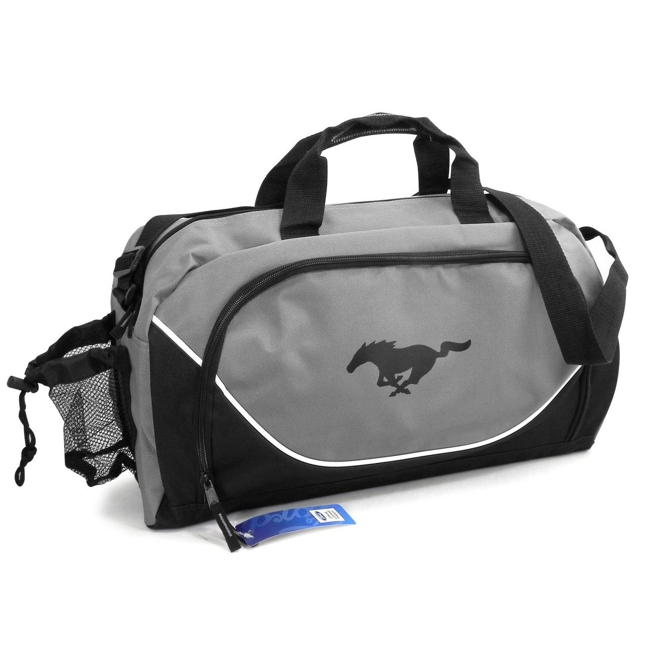 Ford Mustang Official Licensed Black Gray Duffel Bag