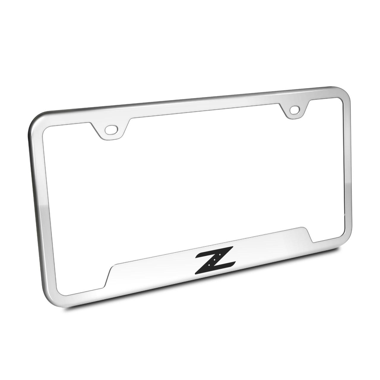 Nissan 350Z Z Polished Steel License Plate Frame