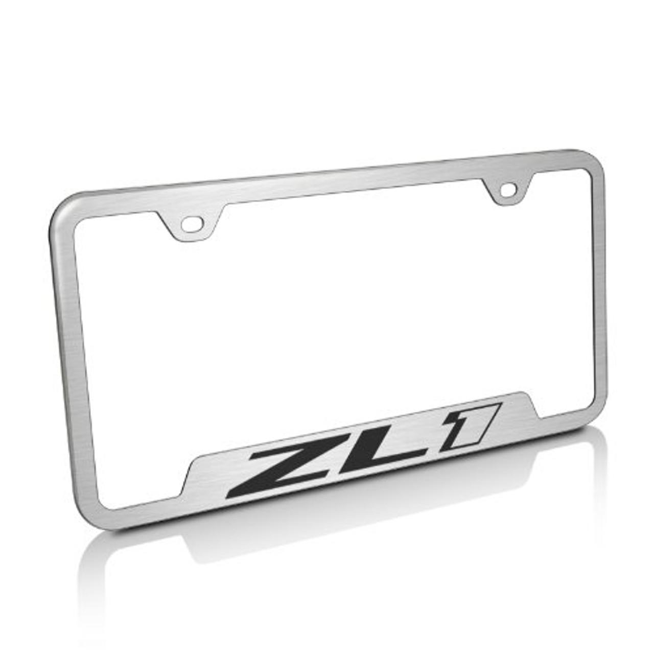 Chevrolet Brushed Steel License Plate Frame
