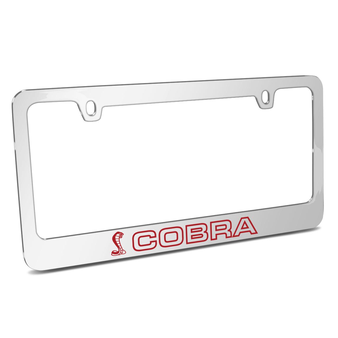 Ford Mustang Cobra Black Metal License Plate Frame iPick Image