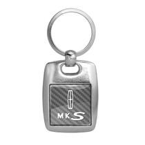 Lincoln MKS Black Spun Brushed Metal Key Ring