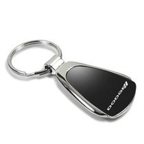 Mazda Logo Etched Keychain Teardrop Chrome Key Fob Metal Keyring Lanyard