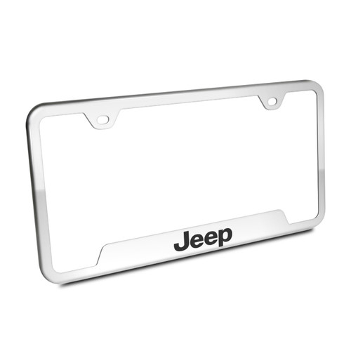 JEEP- Brushed Steel License Frame