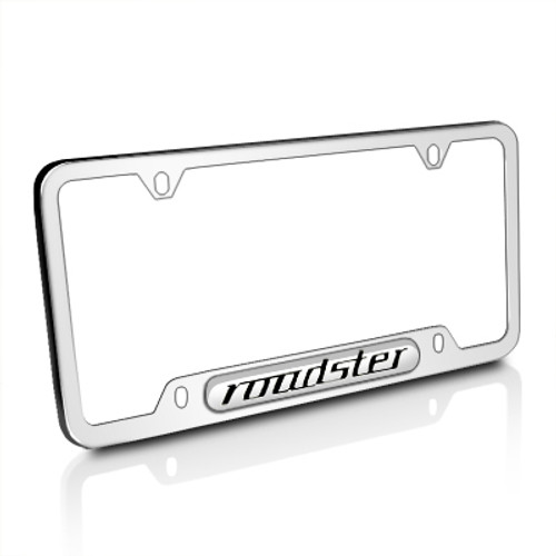 BMW Roadster Mirror Chrome Stainless Steel License Plate Frame
