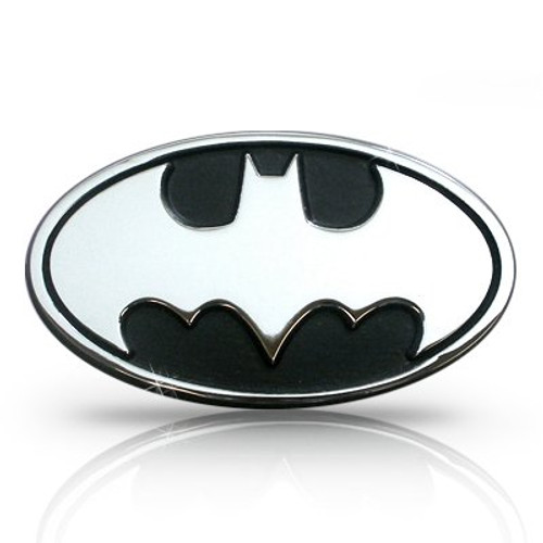 Batman 3D Chrome Metal Auto Emblem, Official Licensed