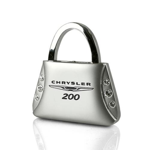 Chrysler 200 Clear Crystals Purse Shape Auto Key Chain