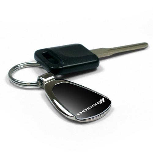 Mazda 3 Black Tear Drop Metal Key Ring