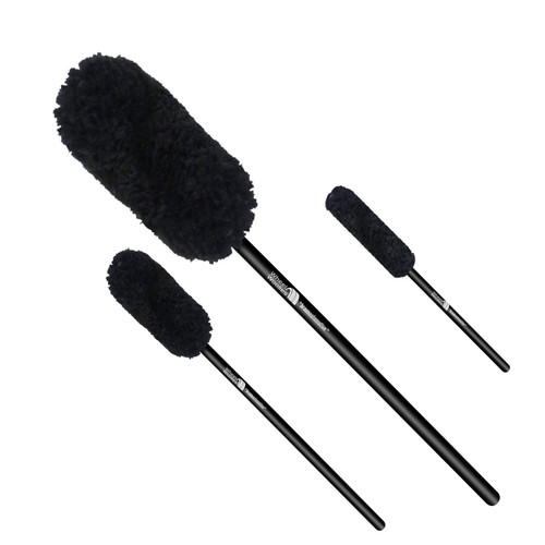 """Wheel Woolie Three Piece Brush A Set WW3A 8"""", 12"""" and 18"""" Automotive Wheel Cleaning Brushes"""